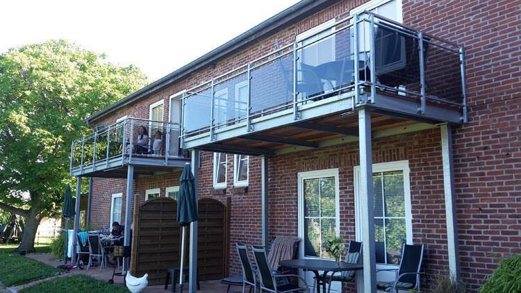 Balkon Mit Verglasung Edelstahl Krause